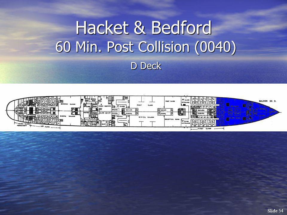 Slide 54 Hacket & Bedford 60 Min. Post Collision (0040) D Deck