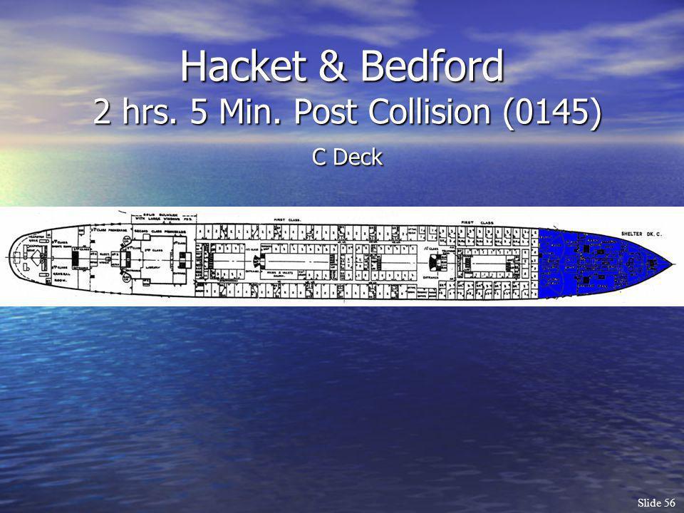 Slide 56 Hacket & Bedford 2 hrs. 5 Min. Post Collision (0145) C Deck