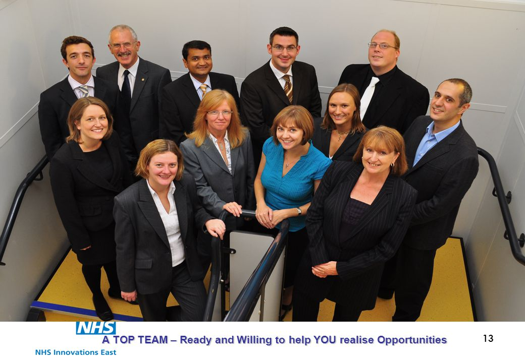 13 A TOP TEAM – Ready and Willing to help YOU realise Opportunities