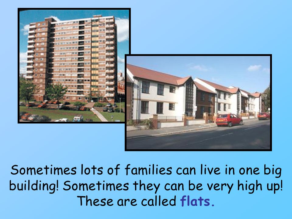 Sometimes lots of families can live in one big building.