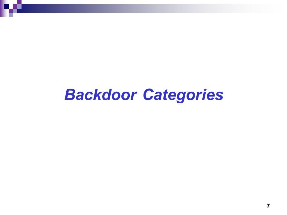 7 Backdoor Categories