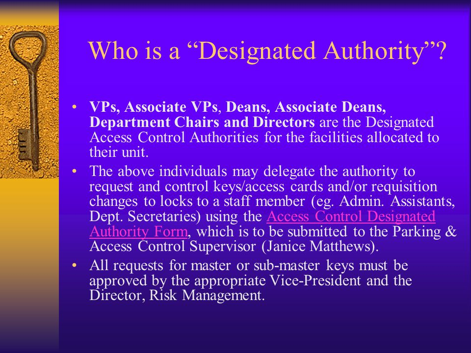Who is a Designated Authority.