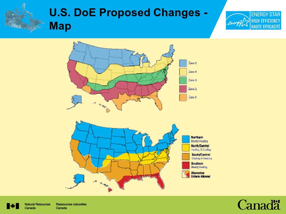 U.S. DoE Proposed Changes - Map