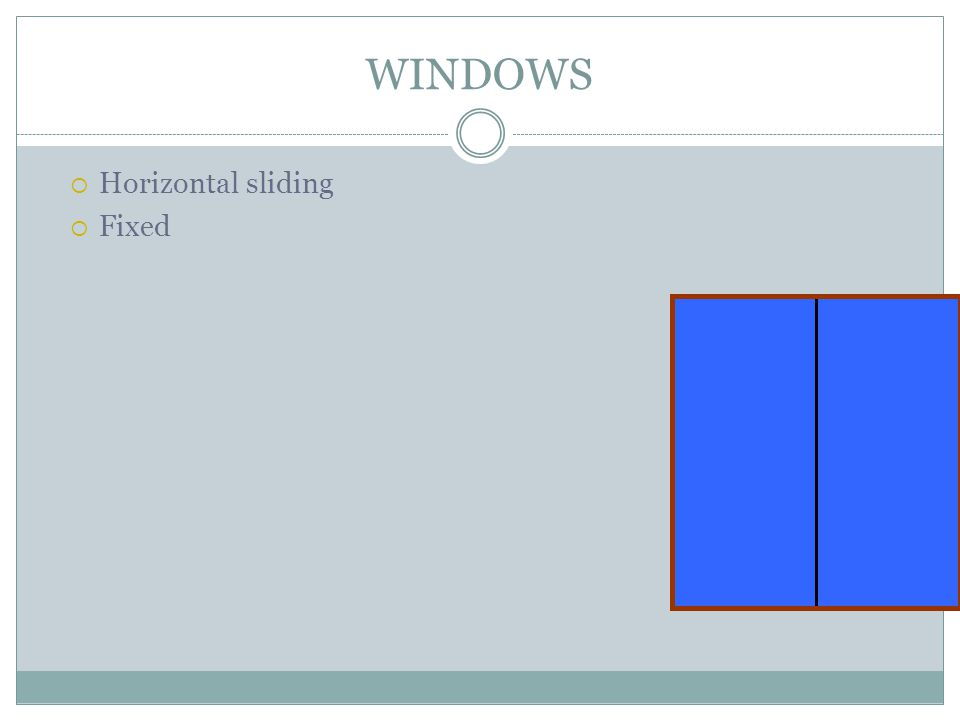 WINDOWS Horizontal sliding Fixed