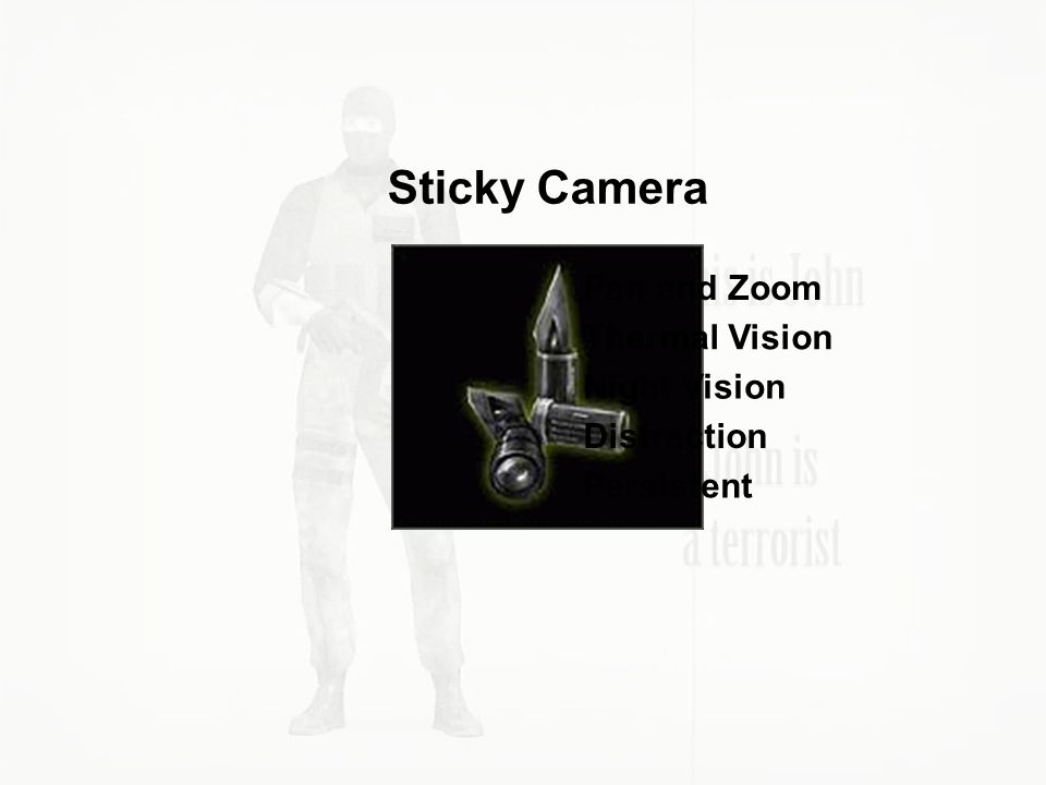 Pan and Zoom Thermal Vision Night Vision Distraction Persistent Sticky Camera