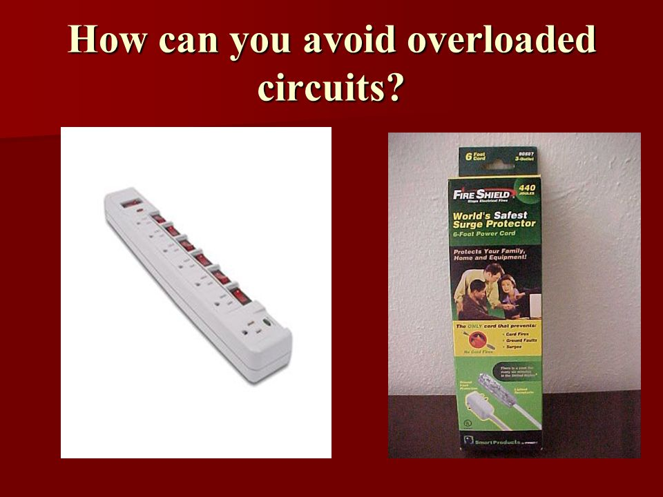 How can you avoid overloaded circuits