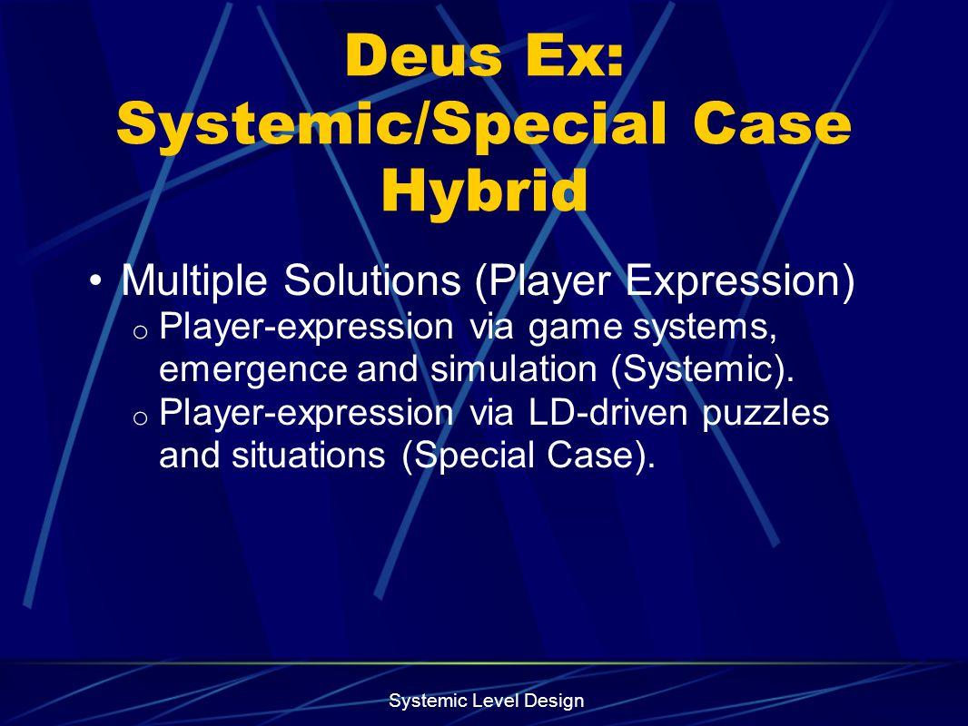Systemic Level Design Prox Mine Model Comparison