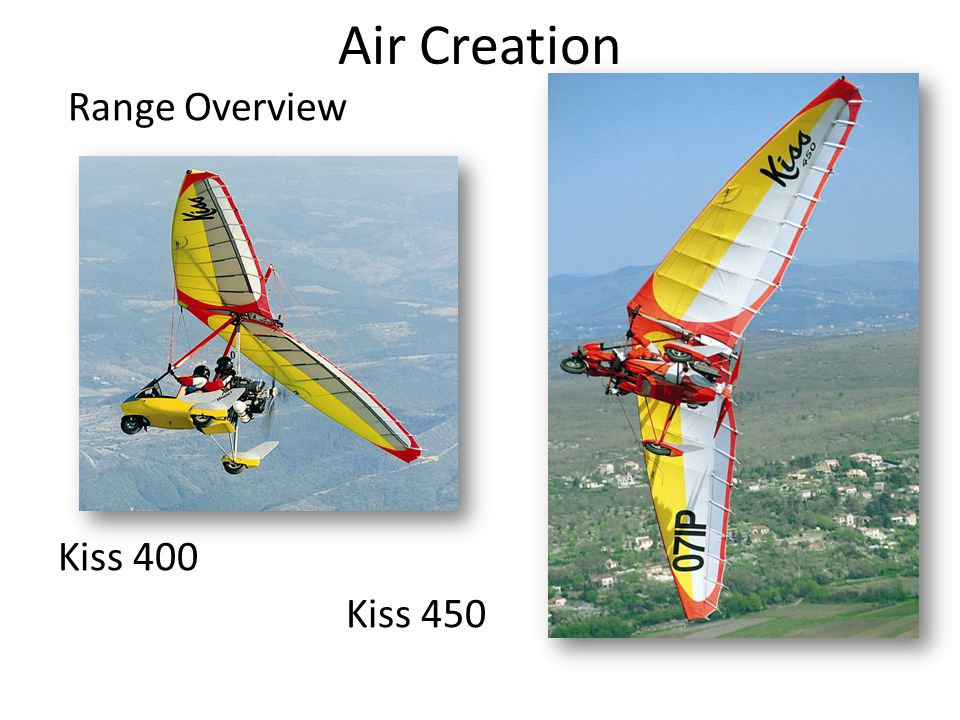 Air Creation Range Overview Kiss 400 Kiss 450