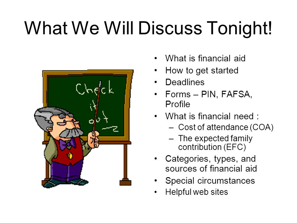 What We Will Discuss Tonight.