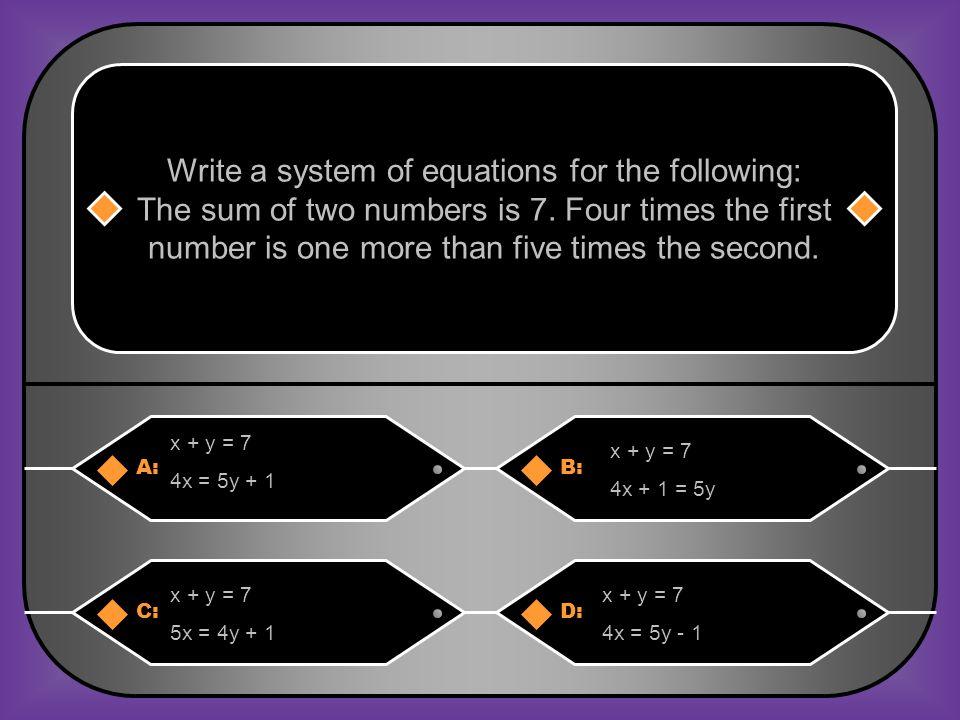C: (0, 0), (2, 0), (0, 4), (3, 1)