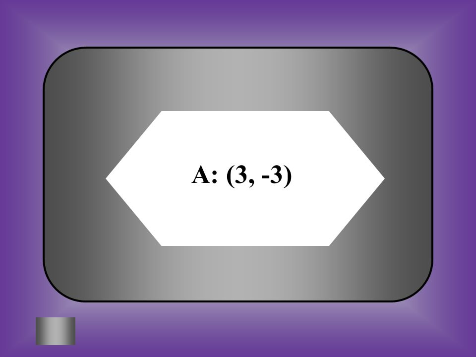 A:B: C:D: Solve by substitution: y = 3x - 12 2x + 3y = -3 (3, -3) ( -3, 3) ( 0, -1) (6, 6)