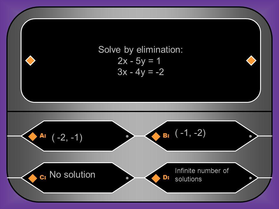 Transitive Property A: (3, -3)