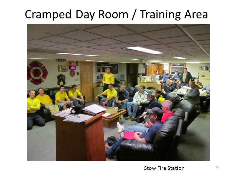 Cramped Day Room / Training Area and Training Room Stow Fire Station 15