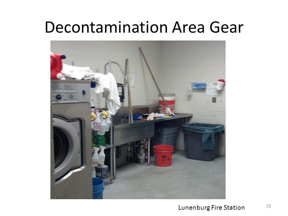 Decontamination Area Gear 19 Lunenburg Fire Station