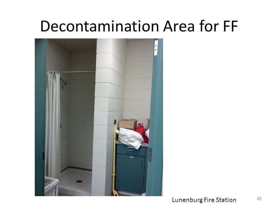 Decontamination Area for FF 20 Lunenburg Fire Station