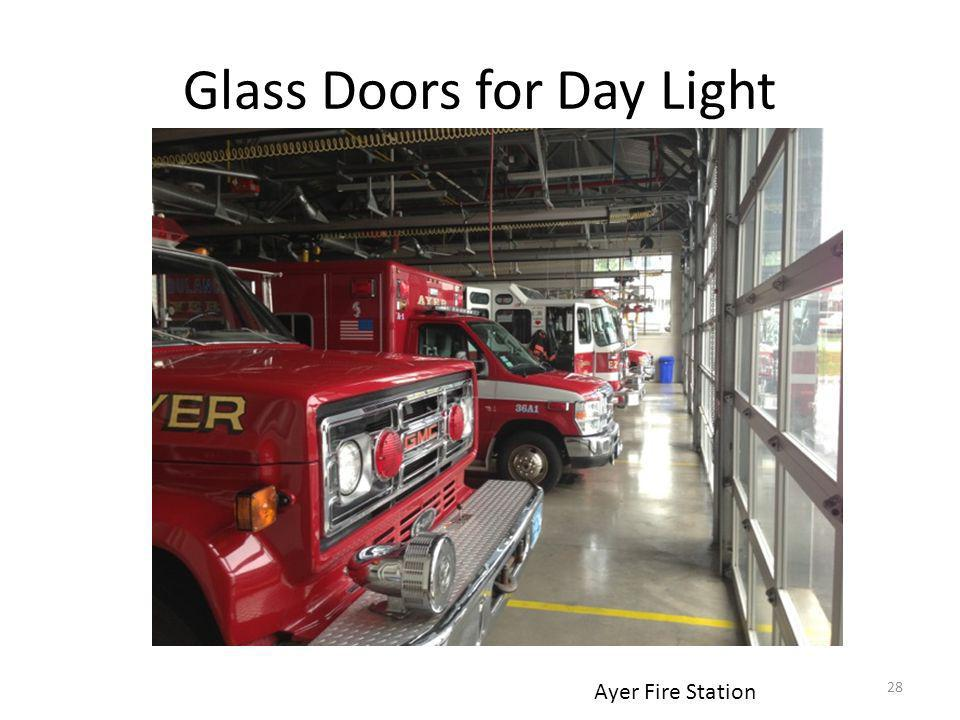 Glass Doors for Day Light Ayer Fire Station 28