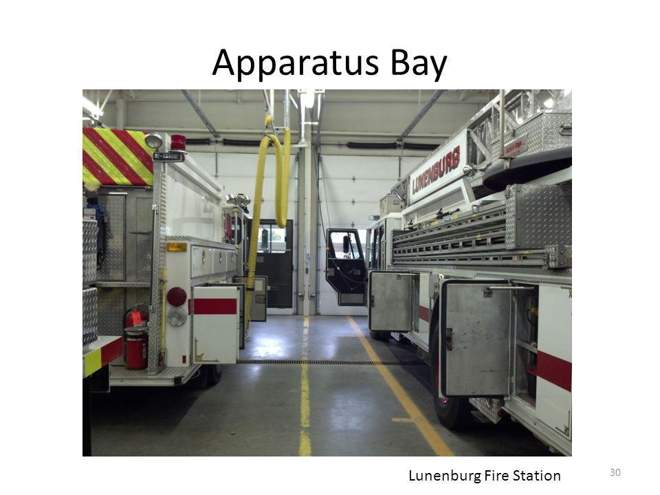 Apparatus Bay Lunenburg Fire Station 30