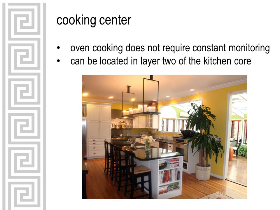 cooking center oven cooking does not require constant monitoring can be located in layer two of the kitchen core