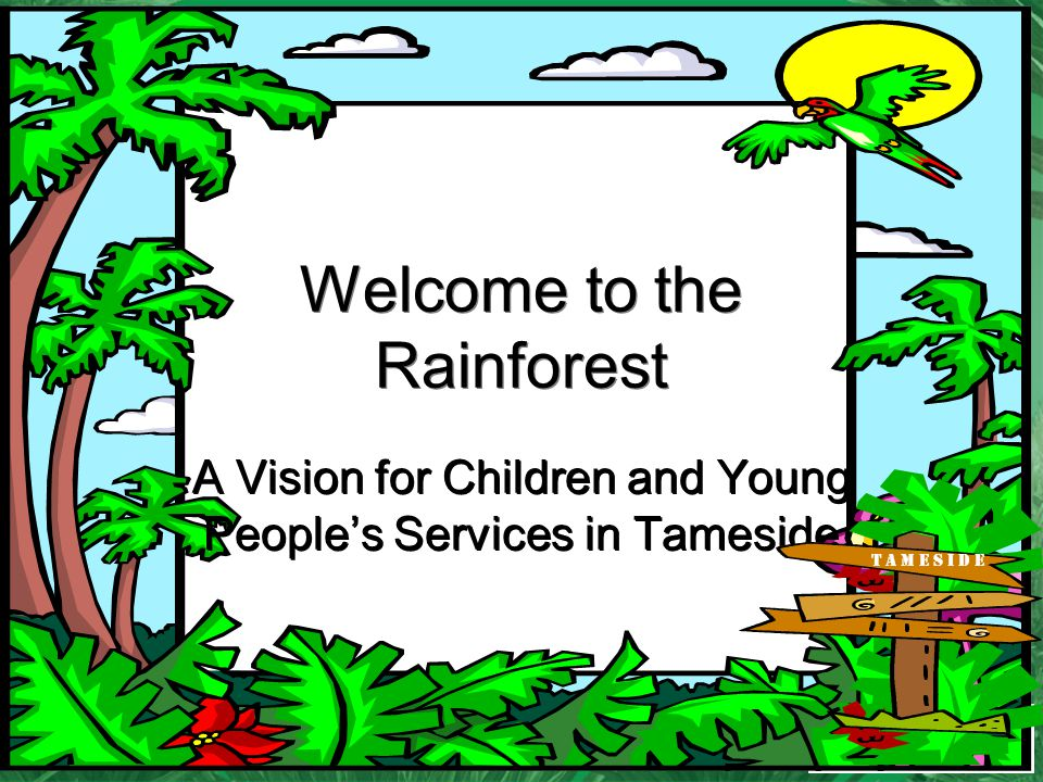Welcome to the Rainforest A Vision for Children and Young Peoples Services in Tameside T A M E S I D E