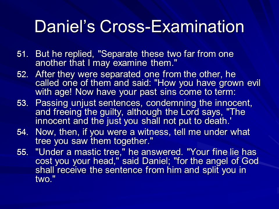Daniels Cross-Examination 51.
