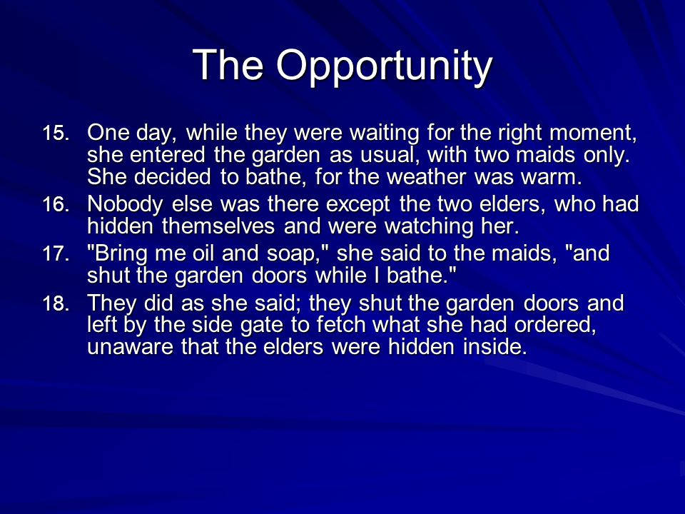 The Opportunity 15.
