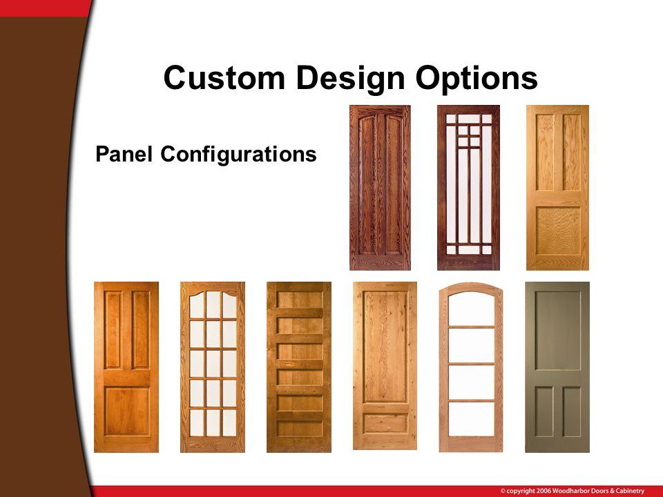 Custom Design Options Panel Configurations
