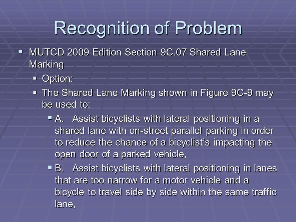 Examples Bike Lanes and Dooring.wmv Bike Lanes and Dooring.wmv League of American Cyclists Training Session League of American Cyclists Training Session http://www.youtube.com/watch?v=1TQ7aID1j Hs http://www.youtube.com/watch?v=1TQ7aID1j Hs http://www.youtube.com/watch?v=1TQ7aID1j Hs http://www.youtube.com/watch?v=1TQ7aID1j Hs Scaled bike lane comparisons Scaled bike lane comparisons