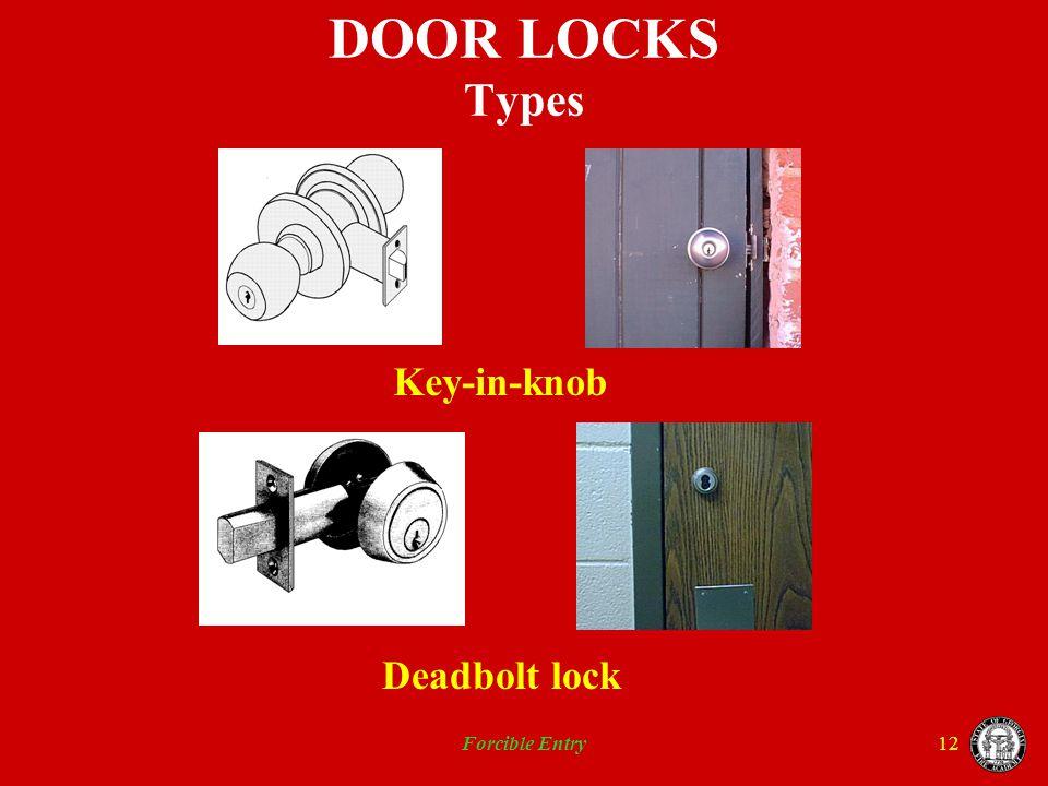 Forcible Entry12 DOOR LOCKS Types Key-in-knob Deadbolt lock