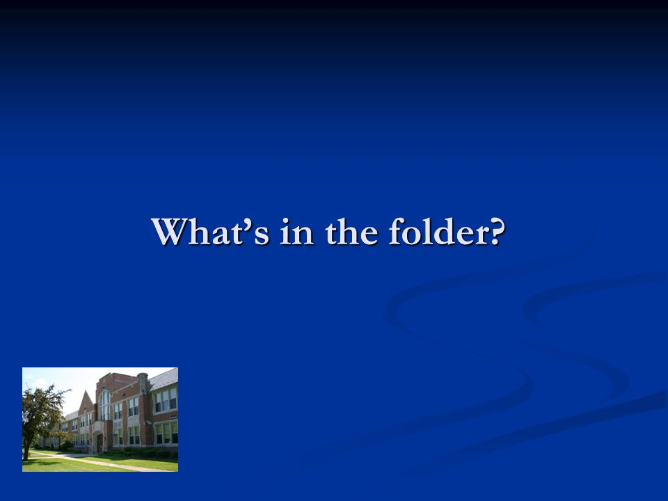 Whats in the folder?
