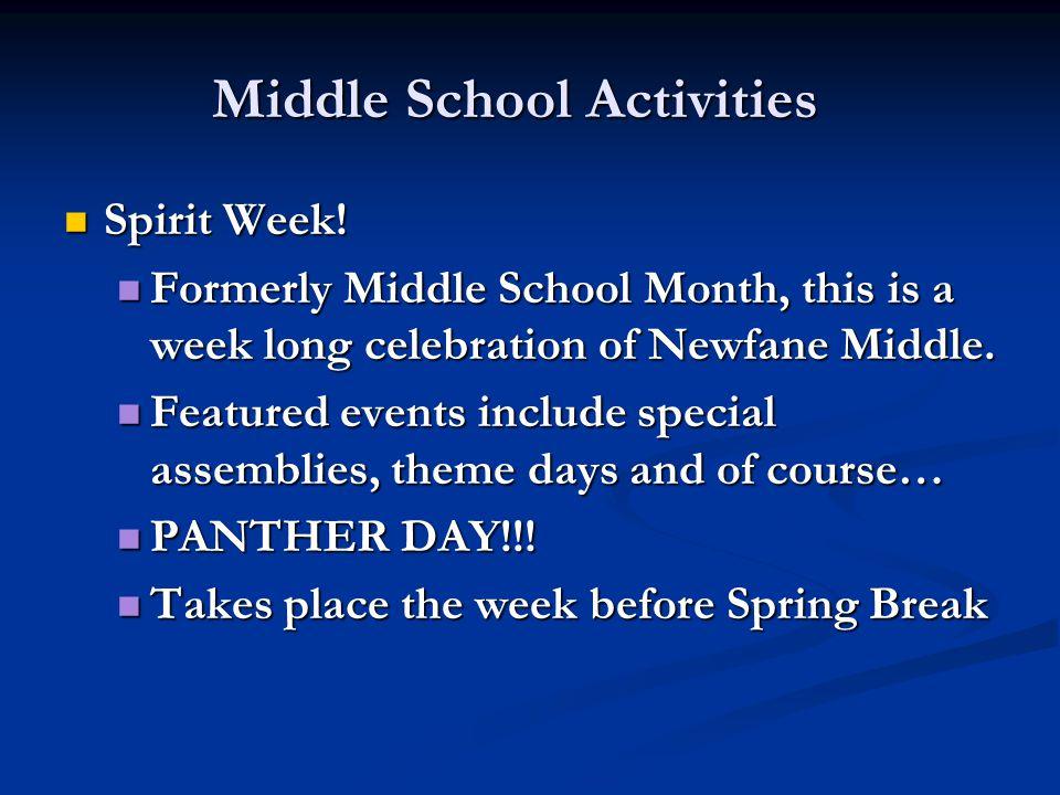 Middle School Activities Spirit Week. Spirit Week.