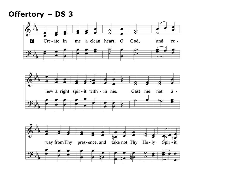 Offertory – DS 3