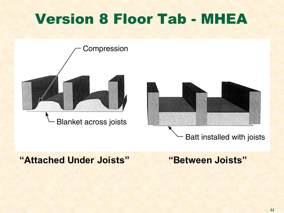 44 Version 8 Floor Tab - MHEA Attached Under JoistsBetween Joists