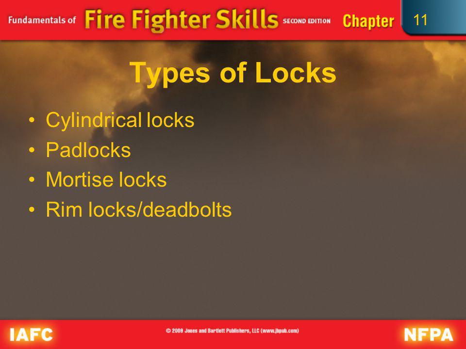 11 Types of Locks Cylindrical locks Padlocks Mortise locks Rim locks/deadbolts