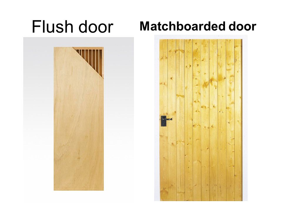 Flush door Matchboarded door