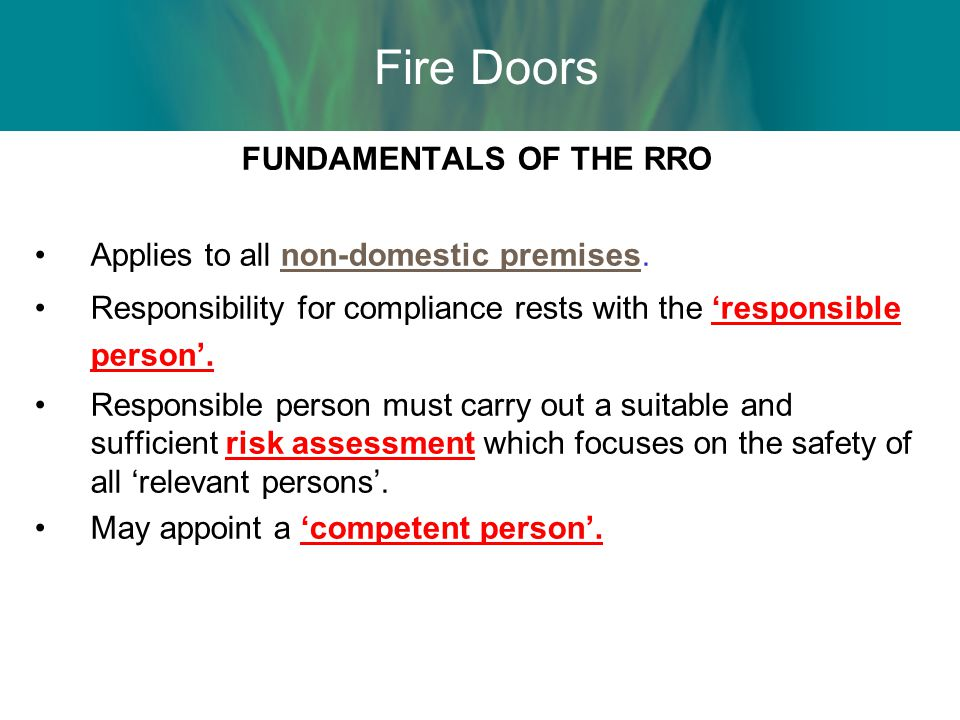 Inspecting Fire Doors Europe s only fire door inspection scheme Provides evidence of competence.