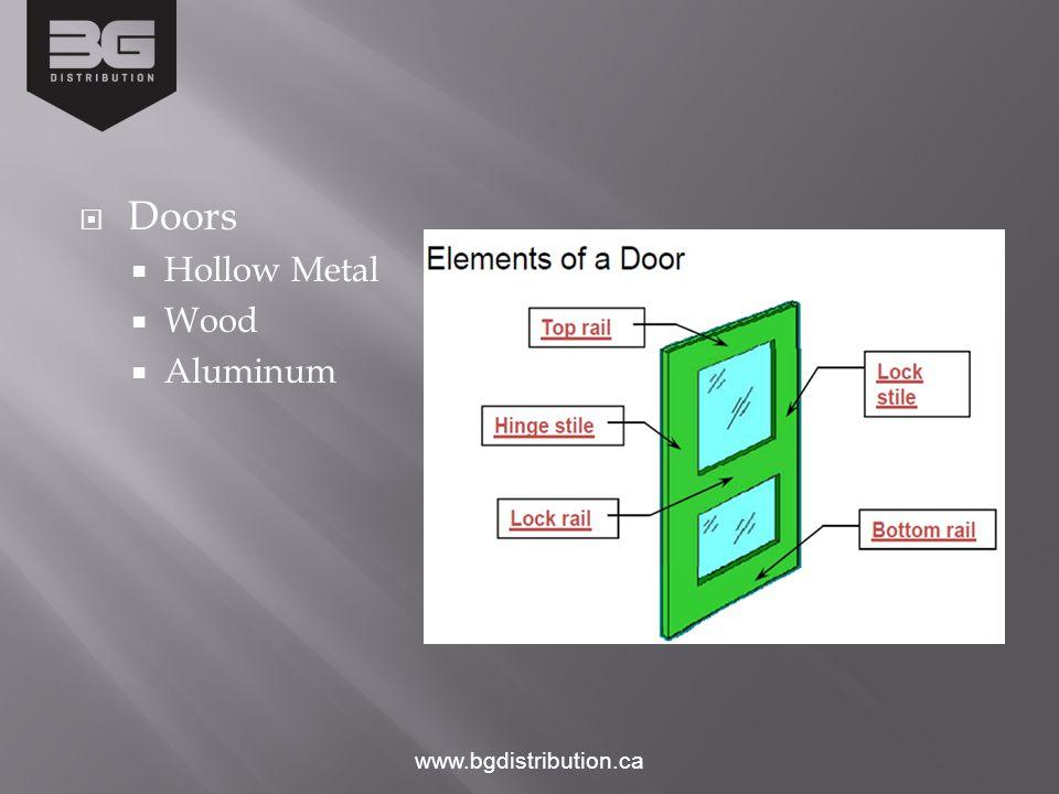 Doors Hollow Metal Wood Aluminum www.bgdistribution.ca