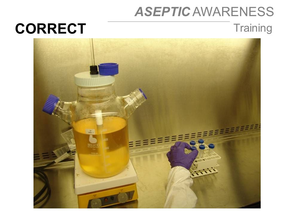 ASEPTIC AWARENESS Training CORRECT