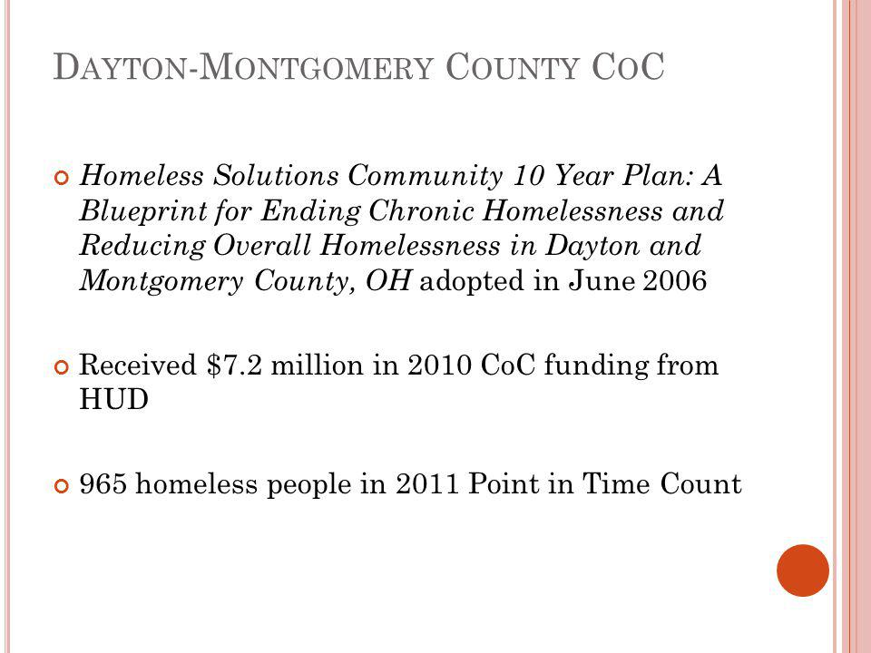 N EXT S TEPS FOR Y OUR C OMMUNITY Look at data How long are people in shelter.