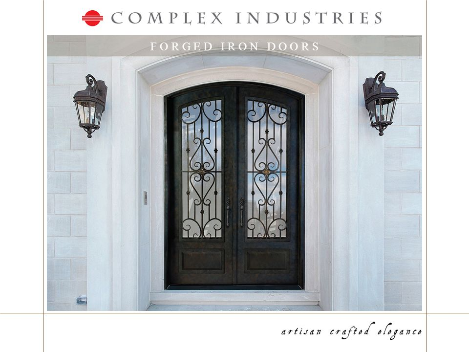 P R O G R A M S - P r i c i n g www.complexirondoors.com Door list pricing is provided to all customers Discounts from list are based on projected sales and negotiated terms Door Price List Accessory pricing as well as pricing for other products (Slim Line, Security Doors, etc) are provided as net prices Pricing is based on projected sales and negotiated terms Accessory Price List