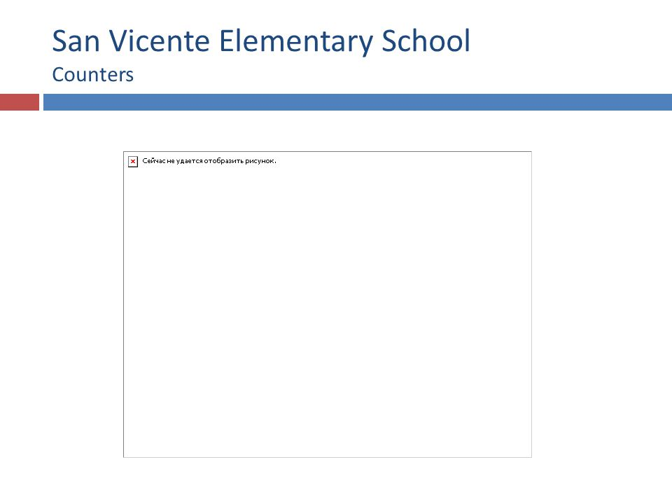 San Vicente Elementary School Counters