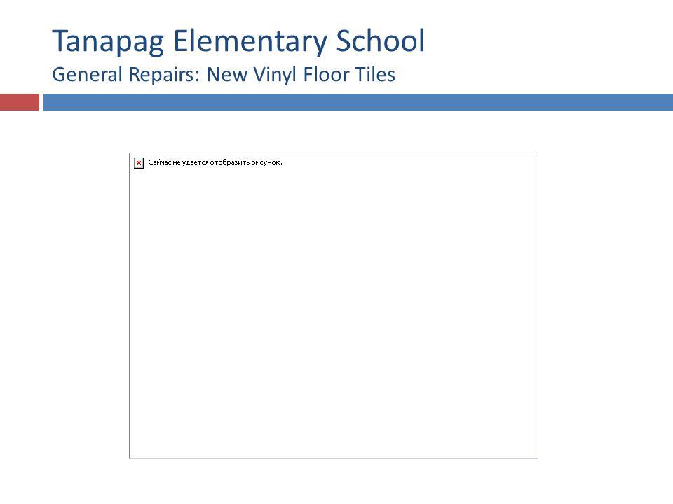 Tanapag Elementary School General Repairs: New Vinyl Floor Tiles