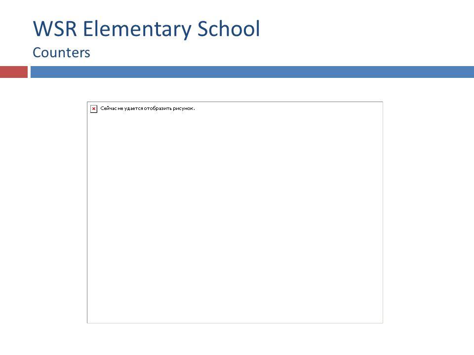 WSR Elementary School Counters