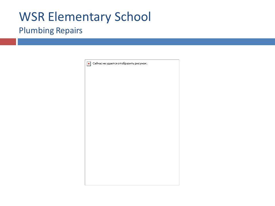 WSR Elementary School Plumbing Repairs