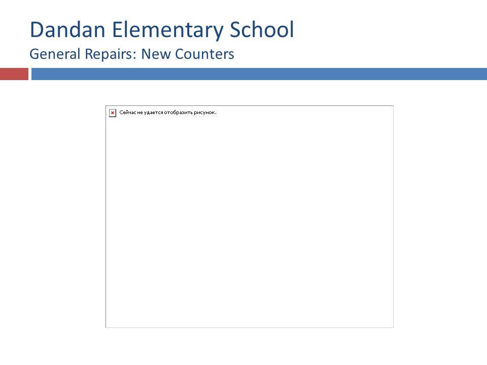 Dandan Elementary School General Repairs: New Counters