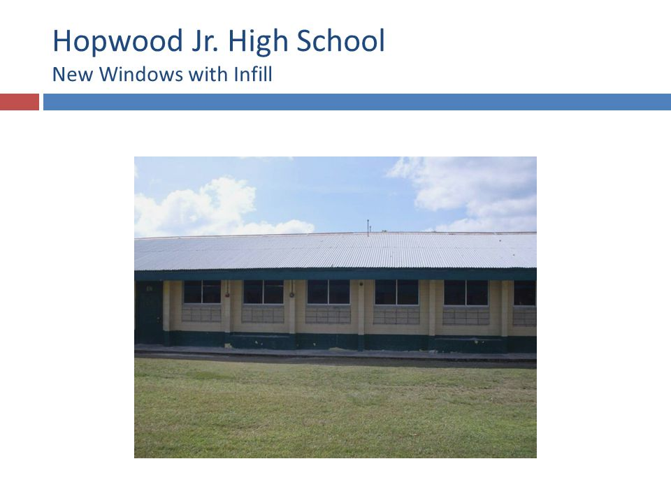Hopwood Jr. High School New Windows with Infill