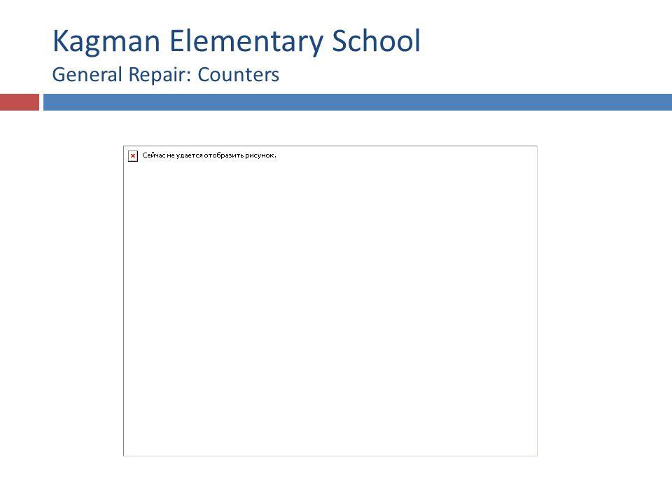 Kagman Elementary School General Repair: Counters
