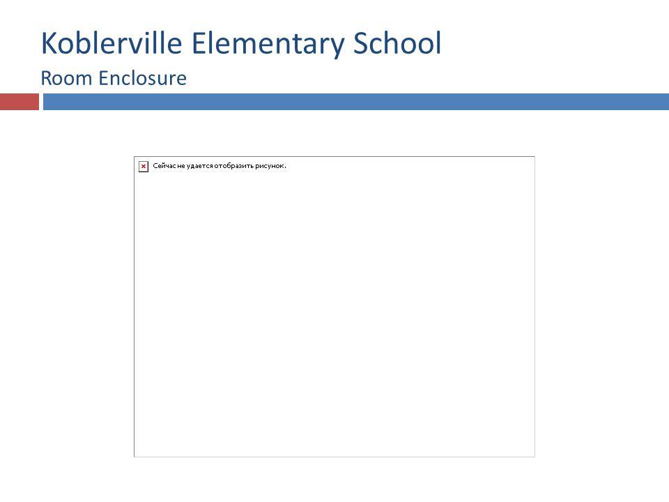Koblerville Elementary School Room Enclosure