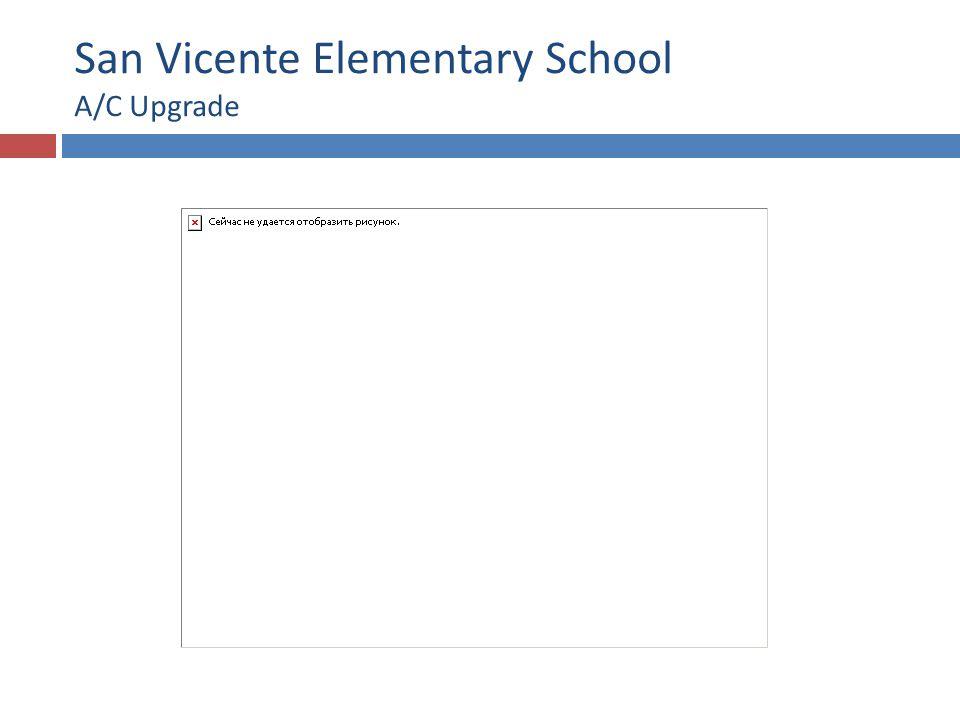 San Vicente Elementary School A/C Upgrade