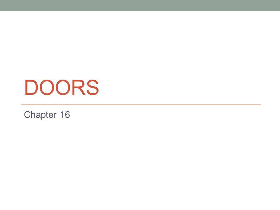 DOORS Chapter 16