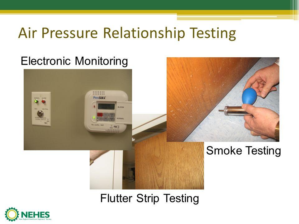Air Pressure Relationship Testing Electronic Monitoring Smoke Testing Flutter Strip Testing